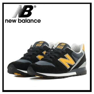NEW BALANCE 996男女兩用新平衡M996CSMI人分歧D鞋運動鞋BLACK/YELLOW(黑色/黄色)ENDLESS TRIP(永無休止的旅行)
