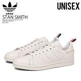 【希少! 大人気! ユニセックス サイズ】 adidas (アディダス) STAN SMITH (スタン スミス) メンズ レディース ユニセックス スニーカー 白 CRYWHT/FTWWHT/SCARLE (ホワイト) BD7433