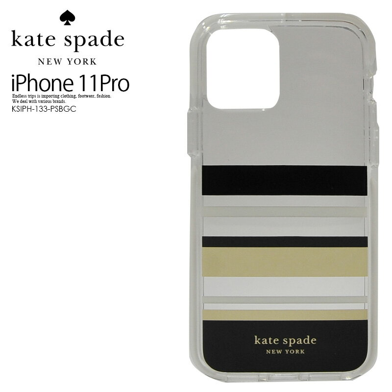 スマートフォン・携帯電話用アクセサリー, ケース・カバー ! ! kate spade () DEFENSIVE HARDSHELL CASE FOR iPhone 11 Pro ( ) iPhone 11 Pro PARK STRIPE GOLD FOILBLACKCREAMCREAM BUMPERCLEAR KSIPH-133-PSBGC