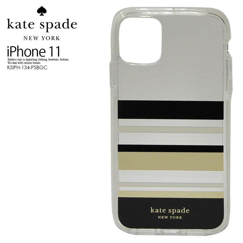 スマートフォン・携帯電話用アクセサリー, ケース・カバー ! ! kate spade () DEFENSIVE HARDSHELL CASE FOR iPhone 11 ( ) iPhone 11 PARK STRIPE GOLD FOILBLACKCREAMCREAM BUMPERCLEAR KSIPH-134-PSBGC
