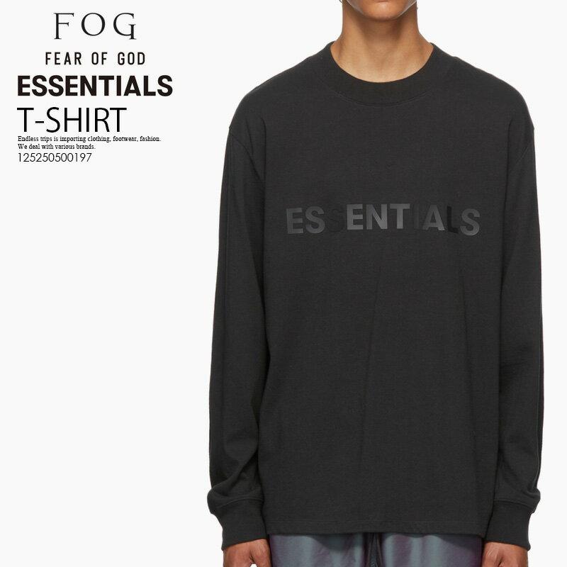 トップス, Tシャツ・カットソー !!FEAR OF GOD () FOG ESSENTIALS BLACK LOGO LONG SLEEVE T-SHIRT ( T) T T BLACK () 125250500197
