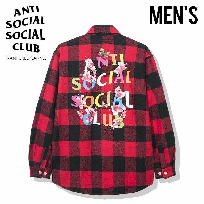 トップス, カジュアルシャツ !!ANTI SOCIAL SOCIAL CLUB () FRANTIC - RED FLANNEL ( ) RED () FRANTICREDFLANNEL ENDLESSTRIP