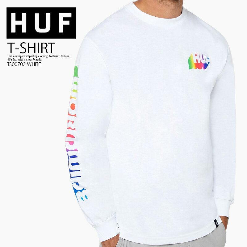 トップス, Tシャツ・カットソー !! HUF () AURA WHITE LONG SLEEVE T-SHIRT ( T) T T WHITE () TS00703 WHITE