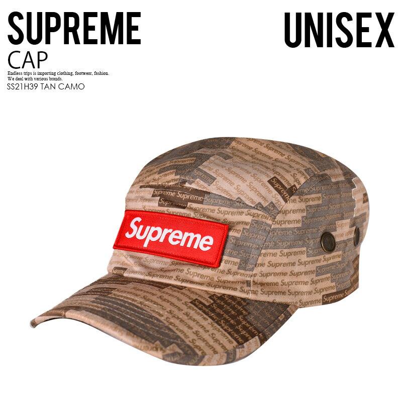 メンズ帽子, キャップ !! Supreme () MILITARY CAMP CAP ( ) TAN CAMO ( ) SS21H39 TAN CAMO ENDLESS TRIP ENDLESSTRIP