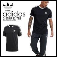 【希少!大人気!ユニセックスTシャツ】adidas(アディダス)3-STRIPESTEE(3ストライプスTシャツ)MENSLADYSメンズレディースTシャツ半袖BLACK(ブラック)CW1202ENDLESSTRIP