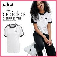 【希少!大人気!レディースTシャツ】adidas(アディダス)WOMENS3-STRIPESTEE[3-STRIPESTEE](3ストライプスTシャツ)LADYSウィメンズTシャツ半袖ロゴWHITE/BLACK(ホワイト/ブラック)CY4754ENDLESSTRIP
