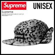 【希少!大人気!ユニセックスキャップ】Supreme(シュプリーム)LEOPARDPOLARFLEECEEARFLAPCAMPCAP(レオパードポラールフリースイヤーフラップキャンプキャップ)帽子GREY(グレー)FW17H66ENDLESSTRIP(エンドレストリップ)