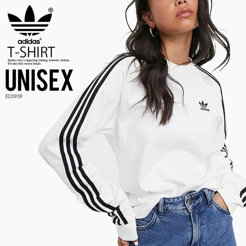 トップス, Tシャツ・カットソー ! ! adidas () 3 STRIPES LS TEE( T) T MENS WOMENS BLACK () ED5959 ENDLESS TRIP