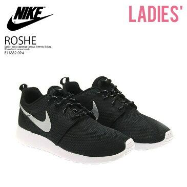 【レディースモデル】NIKE (ナイキ)ROSHE ONE ローシー ワン ROSHERUN ローシラン WOMENS スニーカー BLACK/METALLIC PLATINUM-WHITE ブラック/ホワイト (511882 094) ROSHEONE ENDLESS TRIP pickup