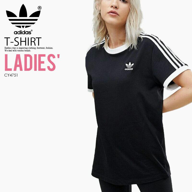 トップス, Tシャツ・カットソー ! ! adidas () WOMENS 3-STRIPES TEE 3-STRIPES TEE ( T) WOMENS BLACK () CY4751