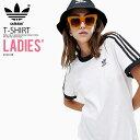 【希少! 入手困難! レディース Tシャツ】 adidas (アディダス) WOMENS 3-STRIPES TEE (3ストライプス Tシャツ) LADYS ウィメンズ Tシャツ 半袖 ロゴ カリフォルニア WHITE (ホワイト) DH3188 (CY4754 同デザイン) ENDLESS TRIP pickup