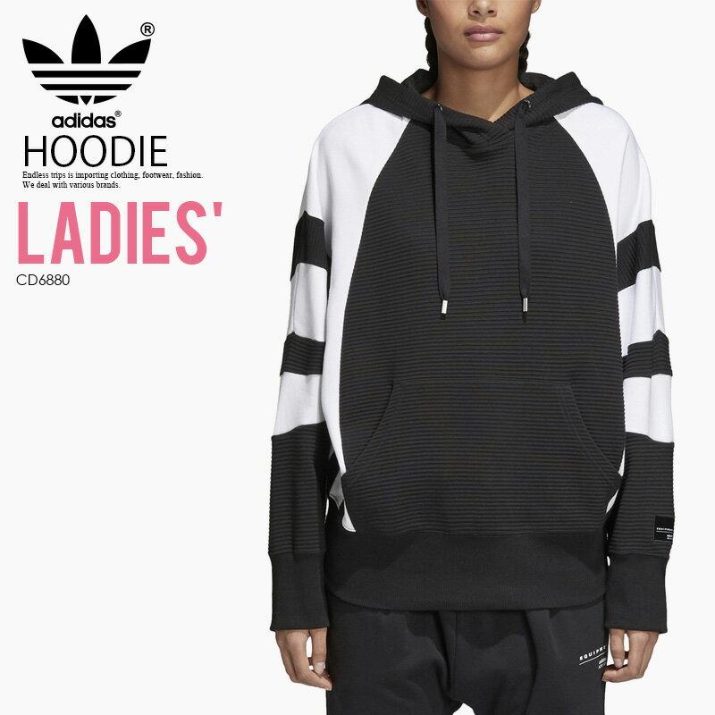 トップス, パーカー ! ! adidas () WOMENS EQT HOODIE BLACKWHITE ( ) CD6880 ENDLESS TRIP