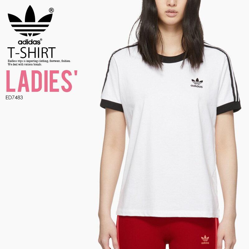 トップス, Tシャツ・カットソー ! ! adidas () WOMENS 3-STRIPES TEE ( T) WOMENS WHITE () ED7483 (CY4754 DH3188 ) ENDLESS TRIP