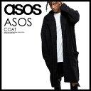 【日本未入荷! 海外限定!】 ASOS (エイソス) EXTREME OVERSIZED BORG DUSTER COAT IN BLACK (エクストリーム オーバーサイズ ボーグ ダスター コート イン ブラック) メンズ 1025192