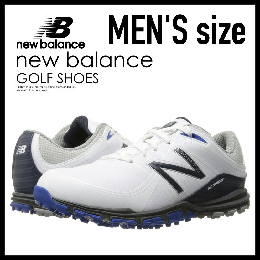 81efe0843d9d9 メンズ ゴルフシューズ】 NEW BALANCE (ニューバランス) NBG1005 MINIMUS GOLF SHOES (ミニマス) MENS  スパイクレス WHITE/BLUE (ホワイト/ブルー) NBG1005 WHITE/BLUE