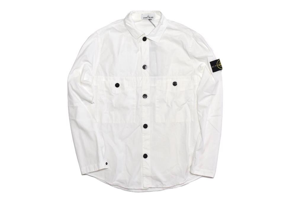 トップス, カジュアルシャツ STONE ISLAND GARMENT DYED SHIRTS RELAXED FIT WHITE 7415110WN S M L XL 2021SS