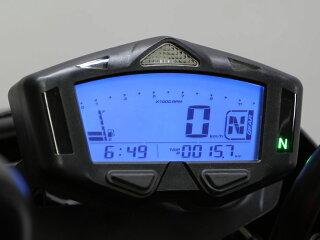 【汎用】汎用マルチメーターHG速度計/回転計/温度計/時計/電圧計/燃料計/総エンジン始動時間/最高記録/シフトタイミング/オドメータートリップメーター/ギア