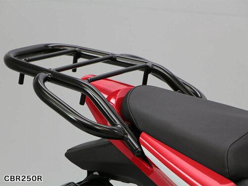 CBR125R('13) CBR250R CB250F タンデムグリップ付きリアキャリア(ブラック) CAR_ C...