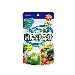 【ユーワ】乳酸菌+酵素 国産大麦若葉青汁 3g×7包<おためしサイズ>