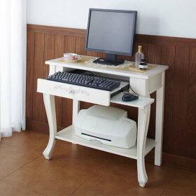 デスクパソコンデスクパソコンラックテーブル書斎デスクパソコンラックパソコンラックデスクコモコンピューターデスクホワイト92206