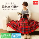 国産 電気ひざ掛け NA-055H-RT 電気毛布 毛布 ブランケット 洗える 日本製 タータンチェ...