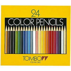 トンボ 色鉛筆24色紙箱入【TC】【J】