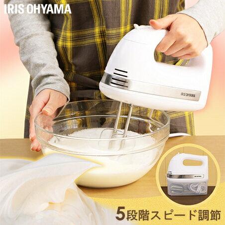 IRIS OHYAMA(アイリスオーヤマ)『ハンドミキサー(PMK-H01-W)』