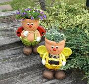 ポイント キャンペーン カントリー ミツバチ プランター オーナメント ガーデニング オブジェ