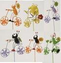 【全商品ポイントキャンペーン中】S2686 木製風車ピック自転車 6Pセット/風車/ピック/ガーデニング/オブジェ/アクセント/オーナメン…