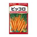 タネ・小袋 ミニ野菜 1〜9月まき[タキイ 野菜タネ]ニンジン: ミニニンジン ピッコロ*