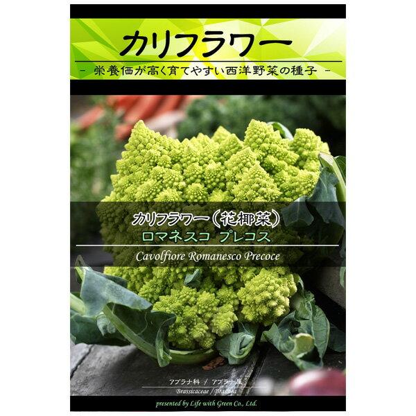 [野菜タネ]カリフラワー:ロマネスコプレコス(サンゴ型)*