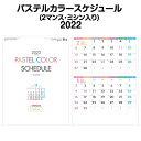 【10月はポイント3倍】2022年 壁掛け SG226 パステルカラースケジュール(2マンス・ミシン目入り)【2022 カレンダー 便利 壁掛け 2022年版 シンプル かわいい おしゃれ】