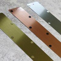 メタルストリップロング3種の金属光沢比較