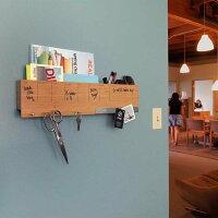 壁面収納予定表メモフックマグネットボード付きおしゃれな壁掛けラック「ウォールキャディ」