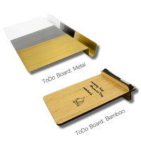 ホワイトボード卓上メモおしゃれなToDoボードスティールまたは竹製