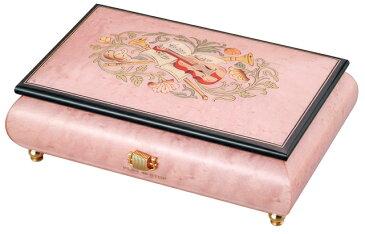 【ケースのみ】30弁用 象嵌ボックス ピンク 楽器・花柄 小物入れタイプ