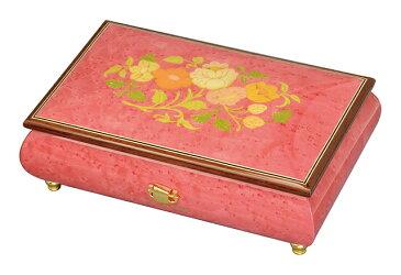 【ケースのみ】30弁用 象嵌ボックス ローズピンク 花柄 小物入れタイプ