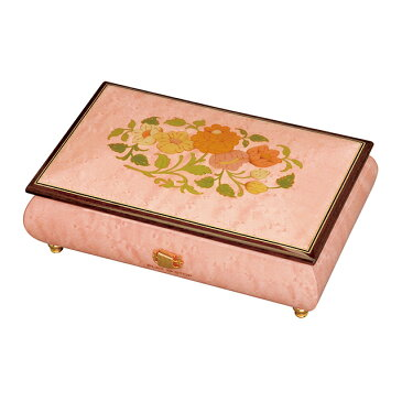 【ケースのみ】30弁用 象嵌ボックス ピンク 花柄 小物入れタイプ
