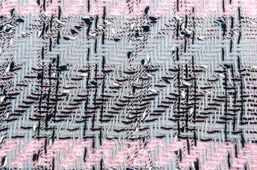 イギリス製 ツイード 生地【LINTON/リントン】シャネルツイードウール・モヘア・ブレンドファンシーツイードはぎれ幅42cmx長さ5cm