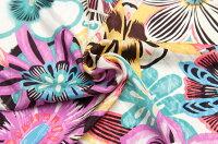 イタリア製【RATTI/ラッティ】ピュアシルク・デシン地織りジャカードxフラワー・プリントブラウス着分1.5m単位生地・布