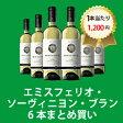【デイリーワイン6本おまとめ買い】[750ml x 6] エミスフェリオ・ソーヴィニヨン・ブラン