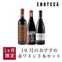ワイン ワインセット 10月のおすすめ赤ワイン3本セット KK10-1 [750ml x 3]