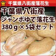 千葉県八街産ジャンボゆで落花生380g5個セット