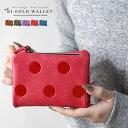 ◆クーポン対象◆二つ折り財布 レディース コンパクト ドット柄 小さい かわいい 二つ折り 2つ折り 財布 さいふ コインケース 小銭入れ カード入れ 定