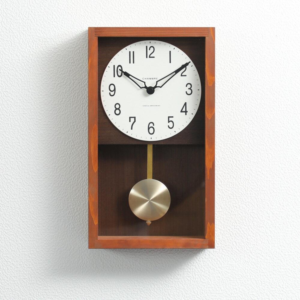 置き時計・掛け時計, 掛け時計 12HINOKI PENDULUM CLOCK CHAMBRE INTERZERO