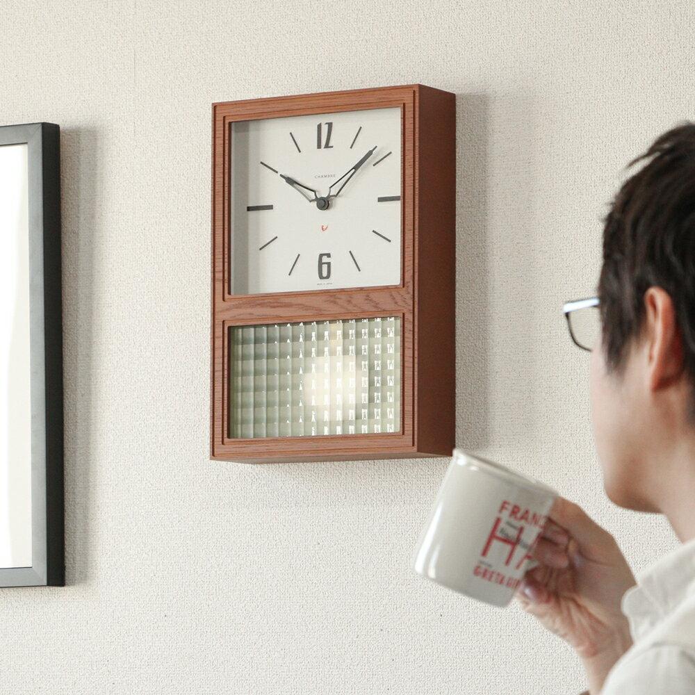 置き時計・掛け時計, 振り子時計 CHAMBRE GLASS PENDULUM CLASSIC INTERZERO