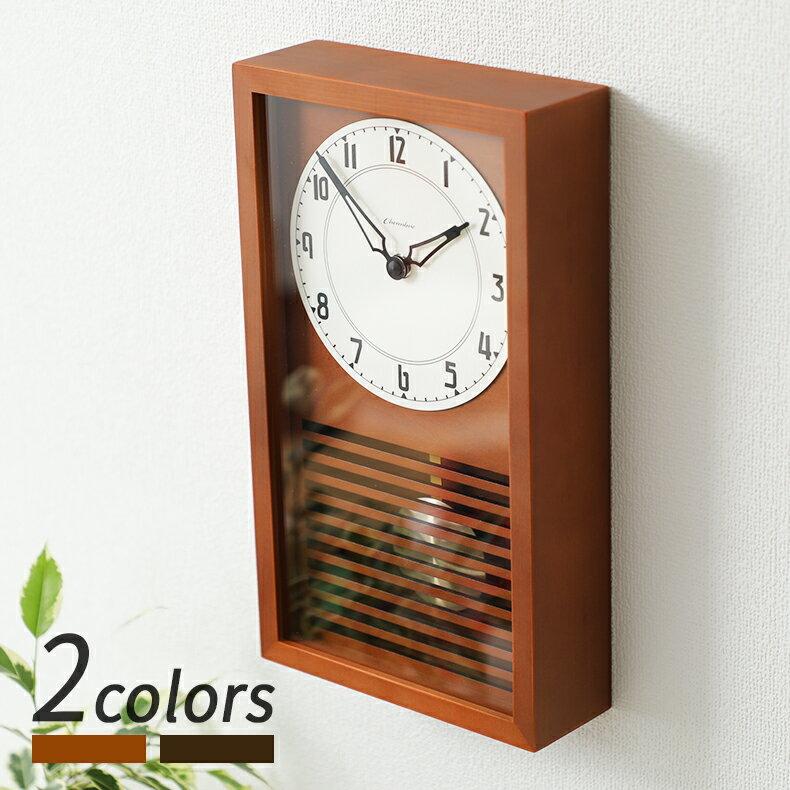 置き時計・掛け時計, 振り子時計 12 CHAMBRE LATTICE PENDULUM CLOCK CAFE BROWN DARK BROWN CH-058CB CH-058DB INTERZERO