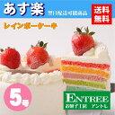 【レインボーケーキ5号サイズ】 誕生日ケーキ お誕生日ケーキ バースデー ケーキ ホールケーキ ホール いち...