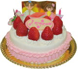ひな祭りイチゴデコレーション5号サイズ ひな祭りケーキ 雛祭り  誕生日ケーキ バースデーケーキ お菓子工房アントレ