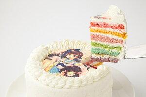 写真プレート付きレインボーケーキ5号サイズ 写真ケーキ 誕生日ケーキ バースデー ケーキ ホールケーキ ホール いちご 子供 大人 レインボー 虹 かわいい 可愛い おしゃれ お取り寄せスイーツ サプライズ 記念日プレゼント お菓子工房アントレ